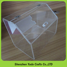High quality plexi glass retail candy box display/ snacks storage organizer for promotion