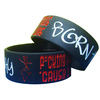 fashion silicone wristband with 2 colors lettering