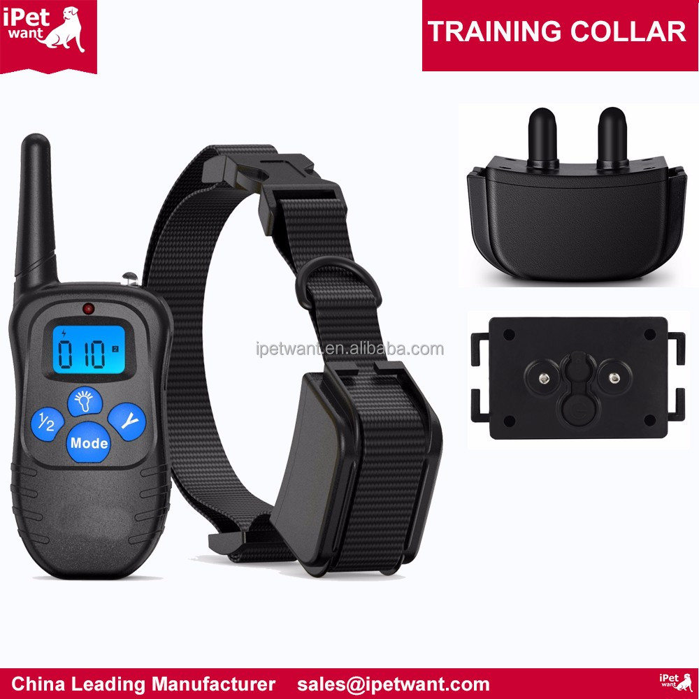 OEM and Private Label for Amazon Rechargeable and RainProof Dog Training Collar No Shock