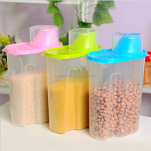 Plastic airtight storage container large capacity food container sets storage box organize
