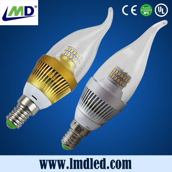 LMD artificial water proof led candle light e14 4w 450lm