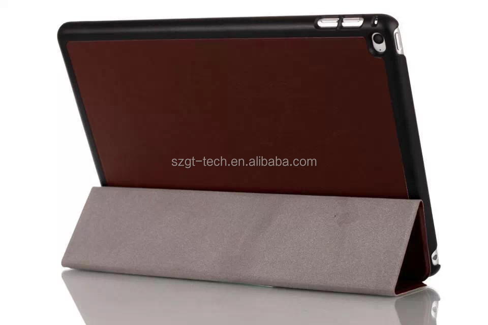 For ipad air 2 smart cover PU leather tri fold tablet pc case