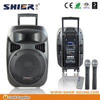 SHIER good quality professional pa sound system for golf bluetooth speaker with rechargeable battery