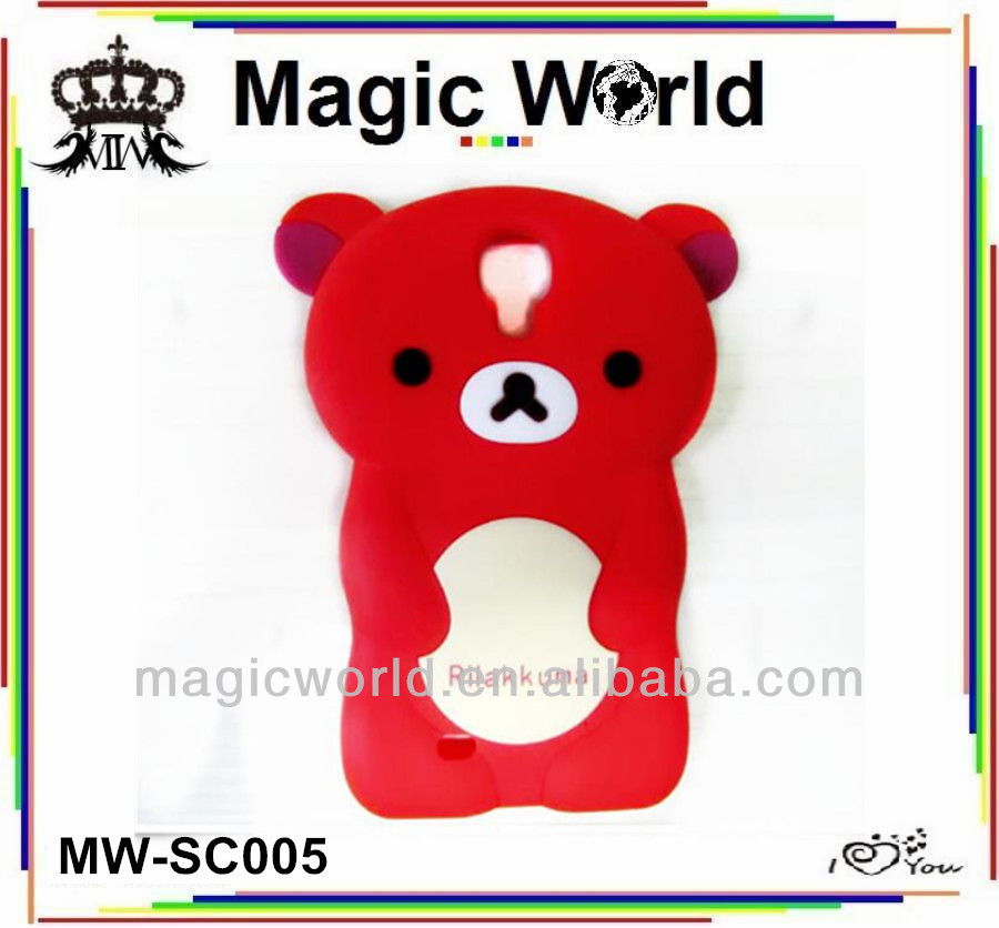 cute carton silicone phone case for samsung galaxy s3