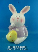 Porcelain rabbit figurine for Easter decoration