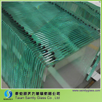 tempered bent glass for fireplace glass