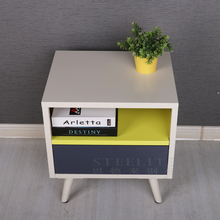 Small square table used coffee table steel drawer nightstand with legs