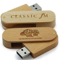 fashion design promotional gift custom logo wedding gift wooden usb flash drive with box