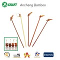 natural flat cocktail bamboo picks butterfly skewer for bar