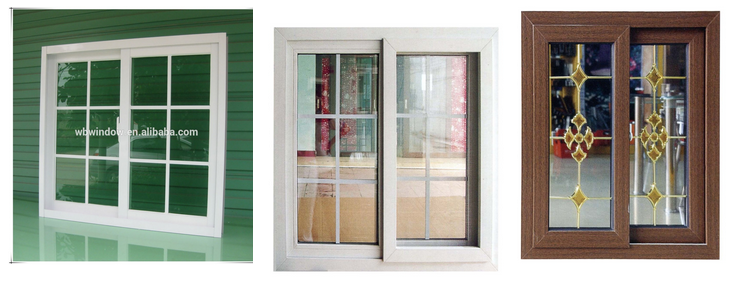 PVC hurricane impact horizontal slide windows