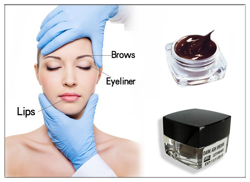 Hot sale! Popular! Cheap! 3d eyebrow tattoo ink 1/2 Oz each bottle