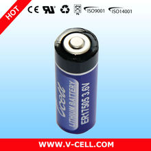 A 3.6V 3400mAh ER17505 Non-rechargeable Lithium Battery