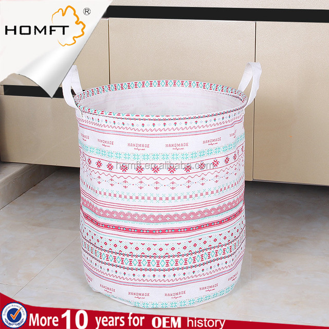 European cotton and linen cloth can fold dirty clothes basket