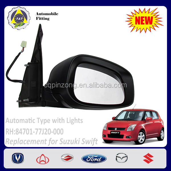 New Arrival Car Body Parts Autometive with LED Lights RH Side View Mirror For Suzuki Swift 1.5L OEM 84701-77J20-000