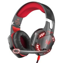 G2000 Stereo Gaming Headset for PS4 Xbox One, Bass Over-Ear Headphones with Mic, LED Lights and Volume Control for Laptop, PC