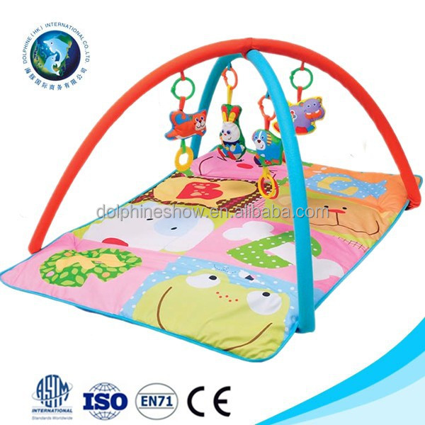 Wholesale cute baby activity crawl gym play mat cheap promotional kids toy soft plush play mat baby