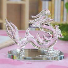 Geomancy dragon furnishing articles Chinese zodiac crystal dragon business gifts crafts Home decoration