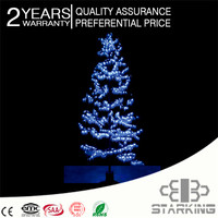 3 meter Realistic Outdoor Artificial Natural Looking LED Lighted Coconut Palm peach tree lamp