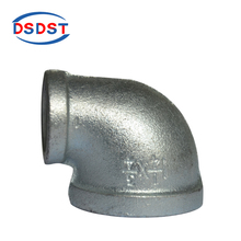 Malleable iron Reducing Elbows Cold Galvanized Pipe Fittings Banded 90 degree Elbows