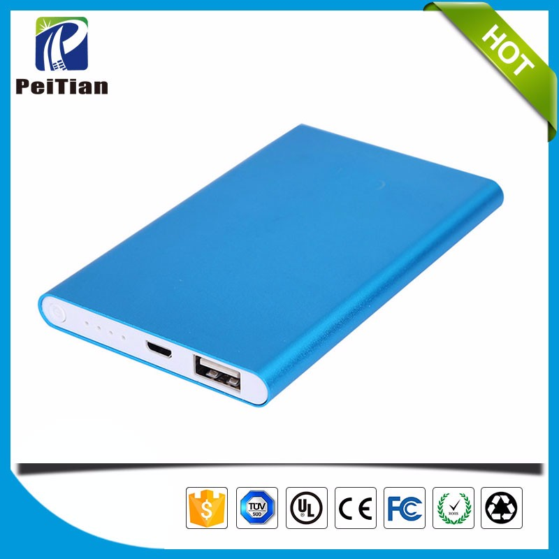 Universal USB Portable External 5000mah mobile power bank charger For Cell Phone