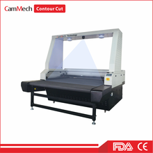 Digital printing textile label apparel flatbed laser cutting machine