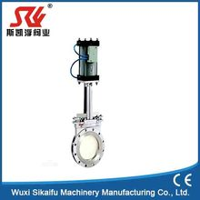 "3"" Stainless Steel Knife Gate Valve with Pneumatic Operation"