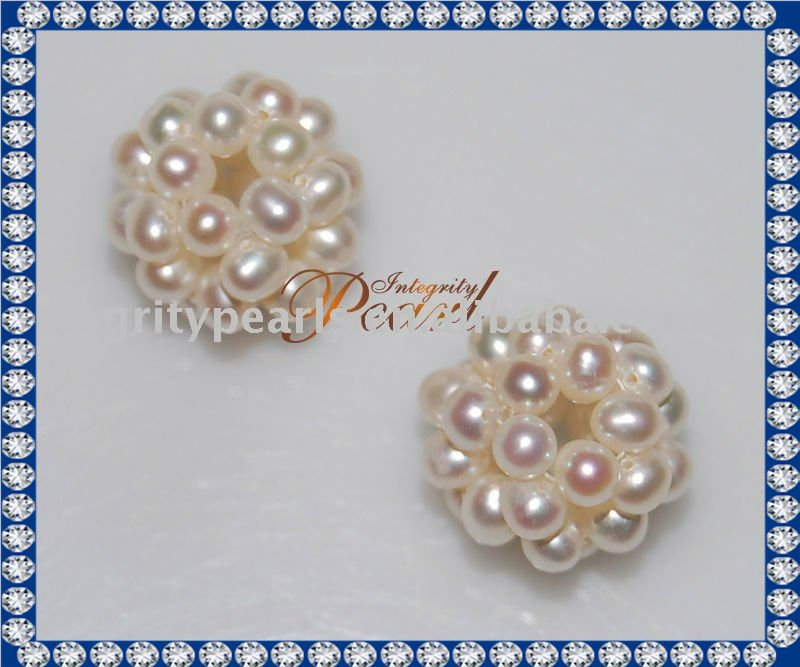 HM01 Lovely and Nice Potato Shape Lustre Pearl Ball