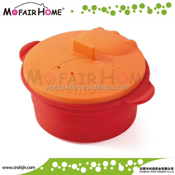 Kitchenware Folding silicone microwave steamer