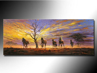 hand-painted desert landscape painting frame Stretched Canvas Oil Painting