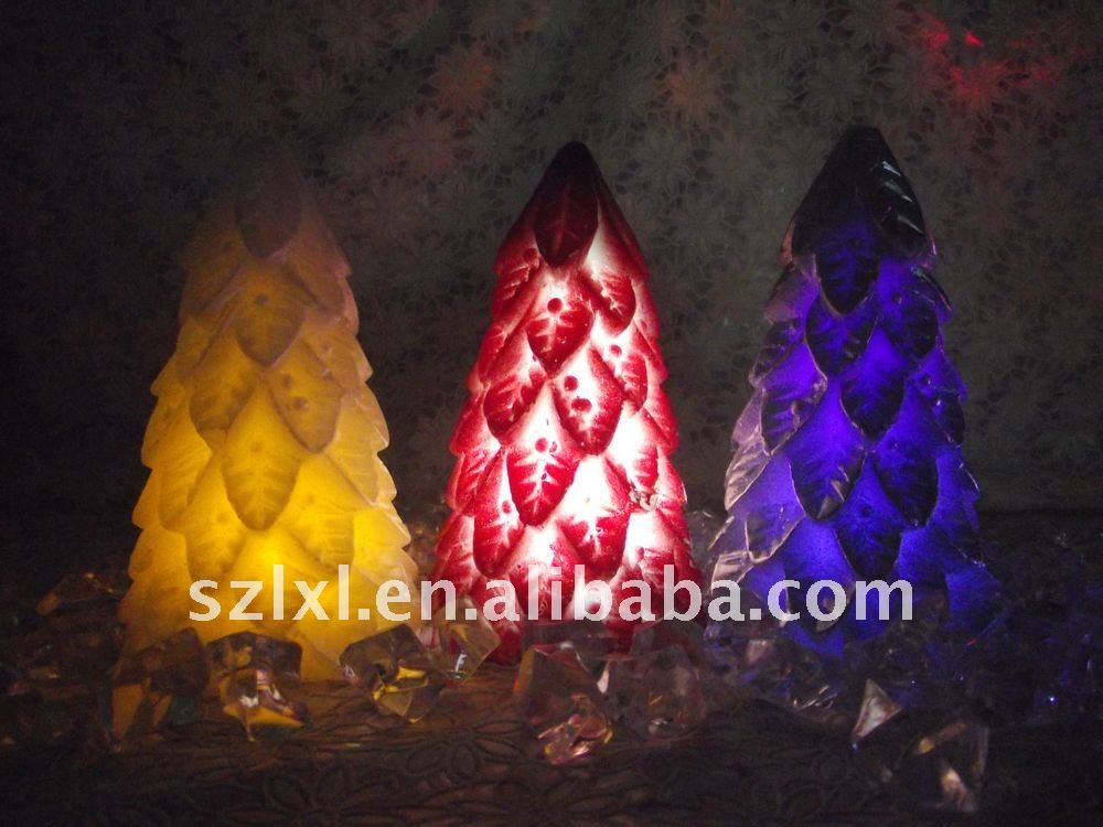 LED Christmas tree light / LED color changing wax candle for Christmas decoration
