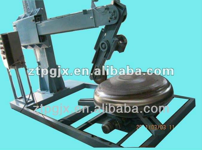 dished head,dish end grinding and polishing ,buffng machine