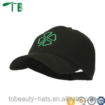 Four leaf clover holiday embroidery flexfit baseball cap and hat