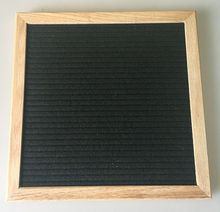 10 x 10 inch Black Felt Letter Board Includes 290 White letters/characters