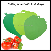 Strawberry Shaped Cutting Board,heart shapled chopping board,fruit mini Mincing board with factory price
