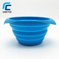 2016 New Hot 100% High Quality Custom Printed Logo Silicone Collapsible Travel Dog Bowl,Foldable Easy Cleaning Silicone Pet Bowl