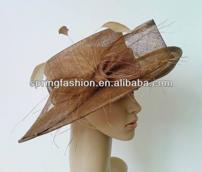 Kentucky Derby Church Party Wedding sinamay hat factory wholesale