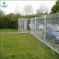 2.0m high galvanised steel security palisade fencing triple pointed