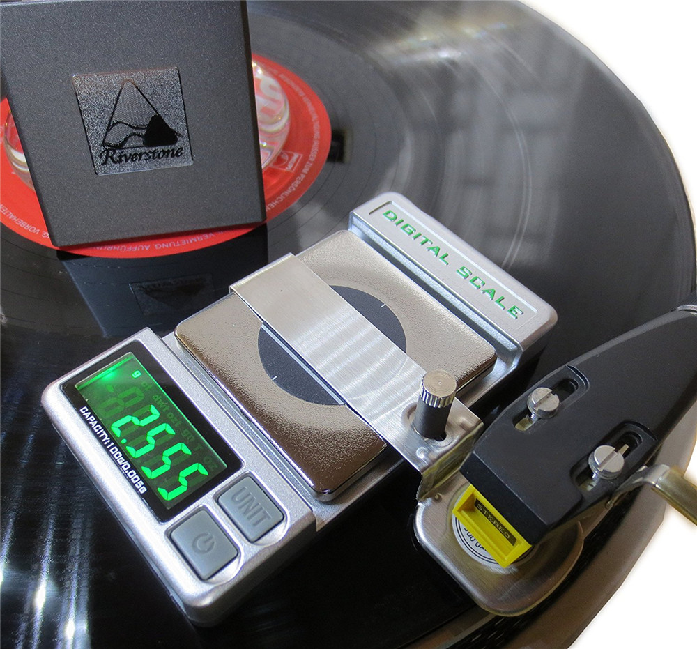 Precision RECORD LEVEL Turntable Stylus Tracking Force Pressure Gauge / Scale 100g, 0.005g Resolution