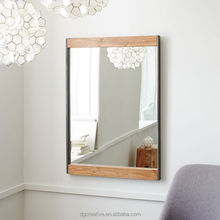 Industrial Metal + Wood Wall Mirror