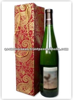 Decorative Handmade Paper Wine Bag
