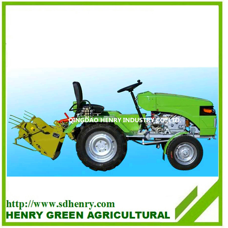 mini tractor with rotary tiller