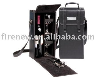 PU Leather wine bottle box Factory manufacture export