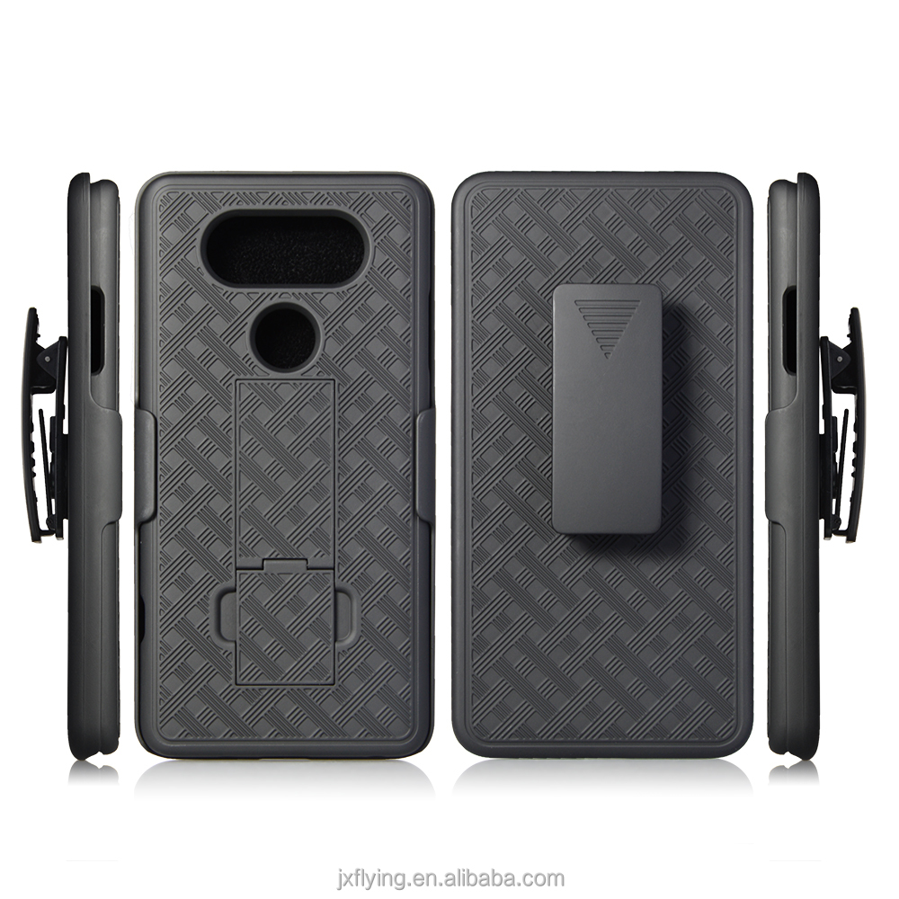 China mobile phone case manufacture for LG V20 holster combo case cover