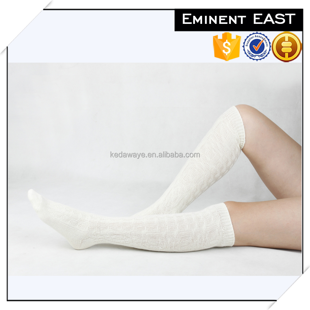 High quality ski warm merino wool thigh high socks
