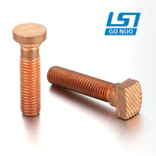 CNC machining custom copper brass full threaded anti-skidding screw