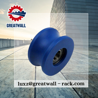 Greatwall Small Nylon U Groove Sliding Gate Hanging Roller Pulley for house/door / window/ room gate