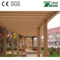 2018 Hot sell outdoor comfortable beautiful WPC garden pergola for leisure