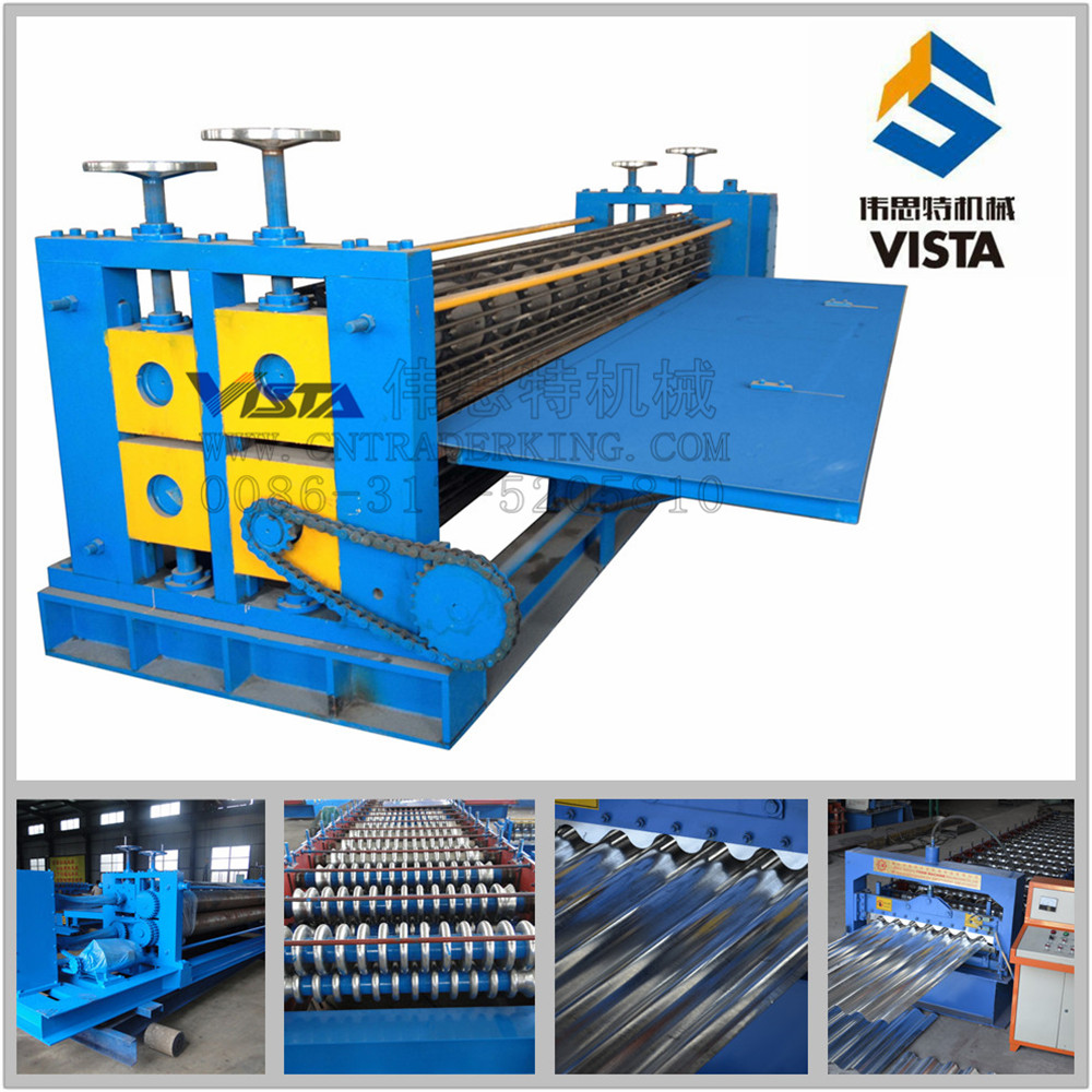 Hydraulic Press Braker steel roof sheet tile roll forming corrugated roof plate roll forming machinery