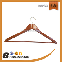 wholesale Antique Wooden Suit Hanger with Bar
