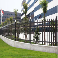 High quality eco-friendly aluminium fence,vertical rail metal fencing